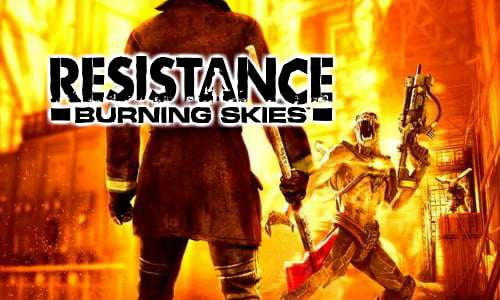 TNP resistance header TEST   Resistance: Burning Skies PSVita