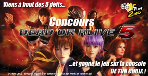 TNP concours doa5 header 500x258 CONCOURS Dead or Alive 5   Gagne le jeu sur la console de ton choix !